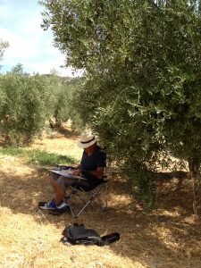 Landscape Painting - Out on location