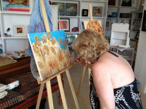 Landscape Painting Workshop - Back in the studio