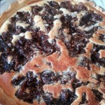 Fig tart made with local figs