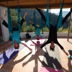 Hanging around in the Yoga Swings