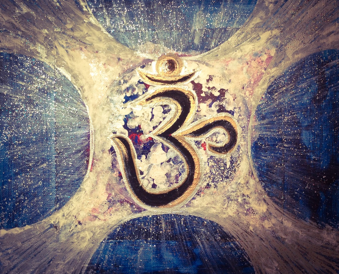 Intuitive Art Painting 'OM'