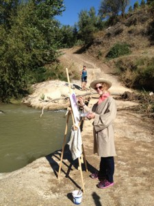 Painting down by the river
